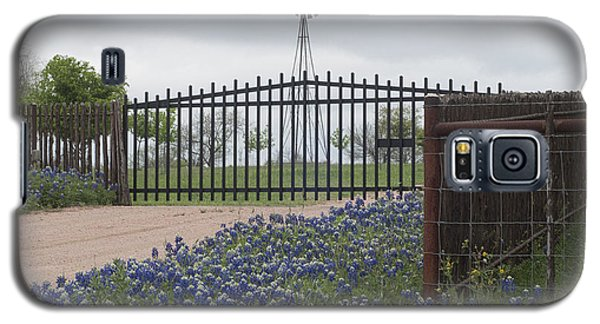 Blue Bonnets By Gate Galaxy S5 Case
