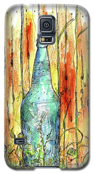 Galaxy S5 Case featuring the painting Blue Bottle by Cathie Richardson