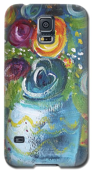 Blue Bouquet Galaxy S5 Case