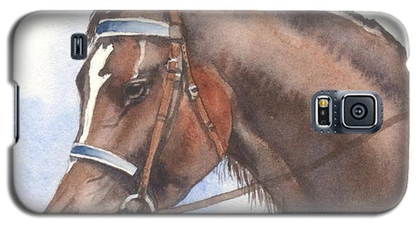 Galaxy S5 Case featuring the painting Blue Bridle by Sandra Phryce-Jones