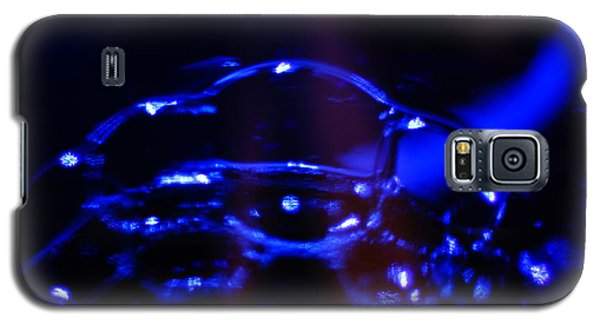Galaxy S5 Case featuring the digital art Blue Bubbles by Jana Russon