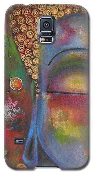 Buddha In Blue Meditating  Galaxy S5 Case by Prerna Poojara