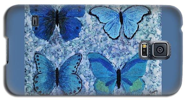 Blue Butterflies Galaxy S5 Case
