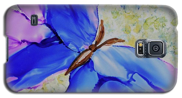 Galaxy S5 Case featuring the painting Blue Butterfly by Joanne Smoley