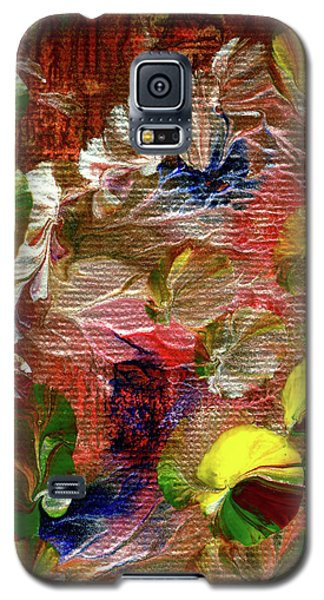 Blue Butterfly Jungle Galaxy S5 Case