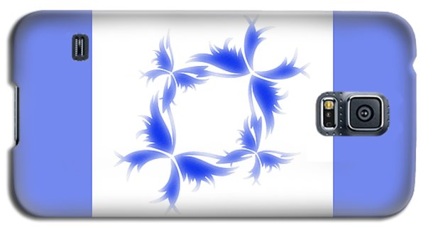 Blue Butterfly Wreath Galaxy S5 Case