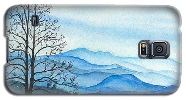 Galaxy S5 Case featuring the painting Blue Calm by Rachel Hames
