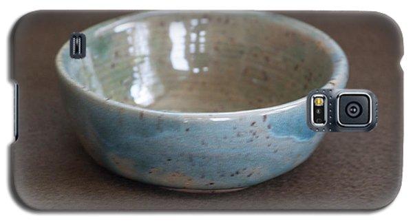 Blue Ceramic Drippy Bowl Galaxy S5 Case by Suzanne Gaff
