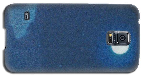 Blue Cloudy Moon Galaxy S5 Case