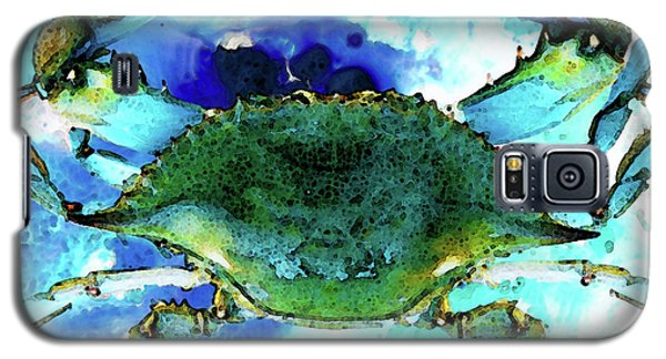 Blue Crab - Abstract Seafood Painting Galaxy S5 Case