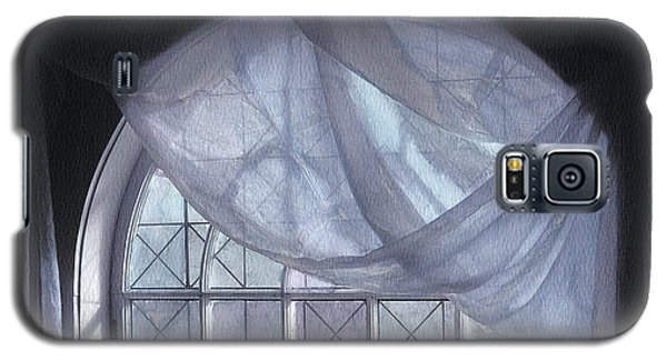 Hand-painted Blue Curtain In An Arch Window Galaxy S5 Case