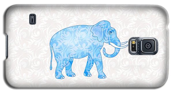 Blue Damask Elephant Galaxy S5 Case by Antique Images