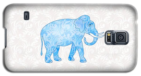 Blue Damask Elephant Galaxy S5 Case