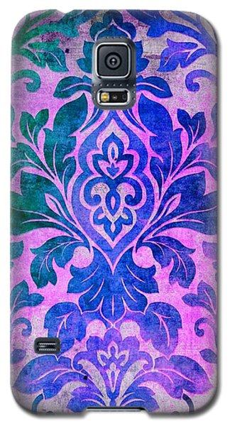 Blue Damask Pattern Galaxy S5 Case