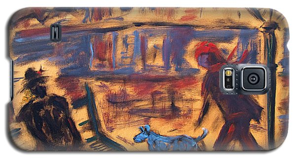 Blue Dog In The City Galaxy S5 Case