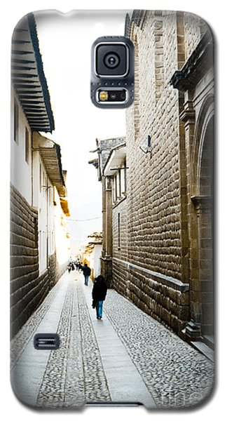 Blue Door In Cusco Galaxy S5 Case by Darcy Michaelchuk