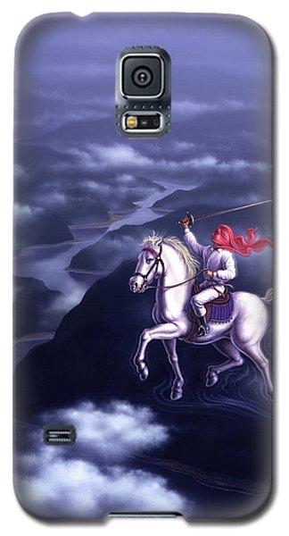 White Horse Galaxy S5 Case - Blue Dream by Jerry LoFaro