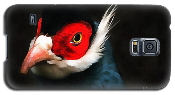 Blue Eared Pheasant Galaxy S5 Case by Jack Torcello