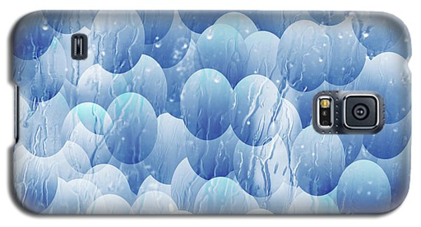 Galaxy S5 Case featuring the photograph Blue Eggs - Abstract Background by Michal Boubin