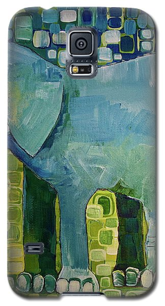 Galaxy S5 Case featuring the painting Blue Elephant by Donna Howard
