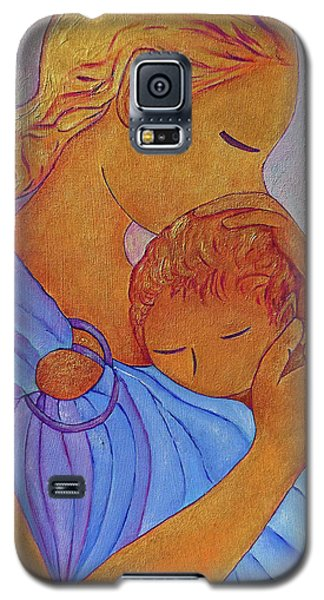 Galaxy S5 Case featuring the painting Blue Embrace by Gioia Albano