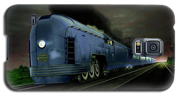 Galaxy S5 Case featuring the photograph Blue Express by Steven Agius