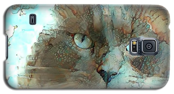Blue Eyed Persian Cat Watercolor Galaxy S5 Case