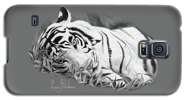 Blue Eyes - Black And White Galaxy S5 Case by Lucie Bilodeau