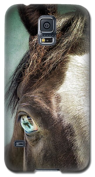 Galaxy S5 Case featuring the photograph Blue Eyes by Debby Herold