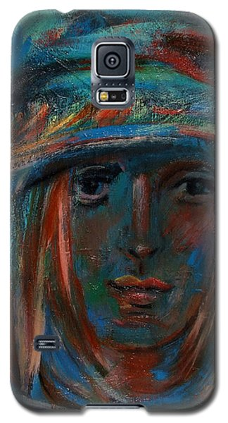 Blue Faced Girl Galaxy S5 Case