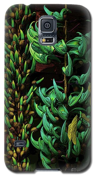 Blue Jade Vine Galaxy S5 Case
