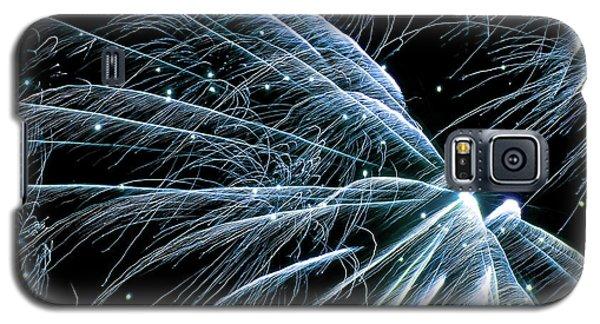 Blue Fairy Fireworks #0710_3 Galaxy S5 Case
