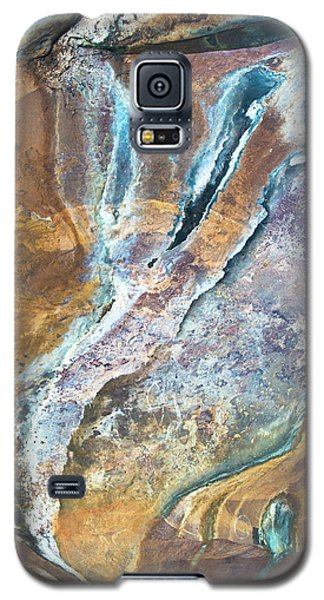 Galaxy S5 Case featuring the photograph Blue Fantasy, Bhimbetka, 2016 by Hitendra SINKAR