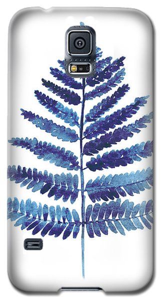 Blue Ferns Watercolor Art Print Painting Galaxy S5 Case by Joanna Szmerdt