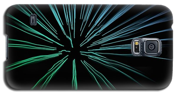 Galaxy S5 Case featuring the photograph Blue Firework by Chris Berry