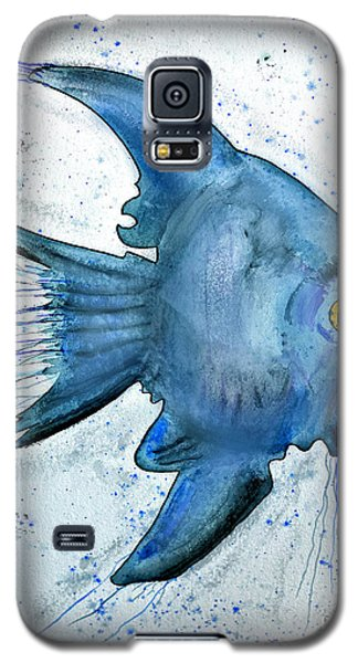 Galaxy S5 Case featuring the photograph Blue Fish by Walt Foegelle
