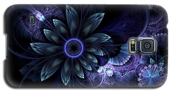 Blue Fleur And Lace Galaxy S5 Case