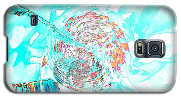 Blue Flower Galaxy S5 Case