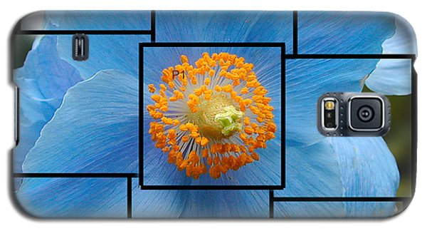 Blue Flower Photo Sculpture  Butchart Gardens  Victoria Bc Canada Galaxy S5 Case by Michael Bessler