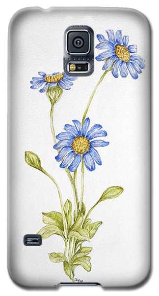 Blue Flower Galaxy S5 Case by Theresa Marie Johnson