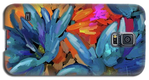 Blue Flowers 2 Galaxy S5 Case