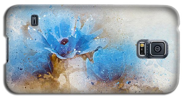 Blue Flowers 4a Galaxy S5 Case