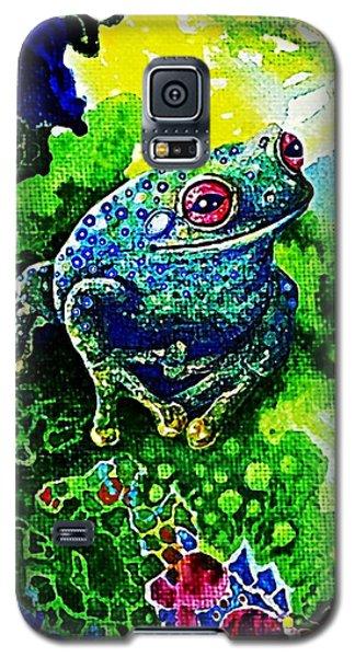 Blue  Frog Galaxy S5 Case