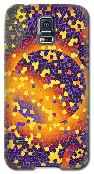 Galaxy S5 Case featuring the digital art Blue Galaxy by Lynda Lehmann