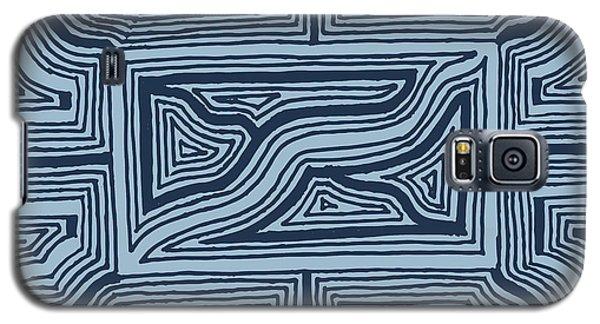Blue Geo Galaxy S5 Case