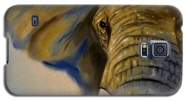 Galaxy S5 Case featuring the painting Blue Giant by Edwin Alverio