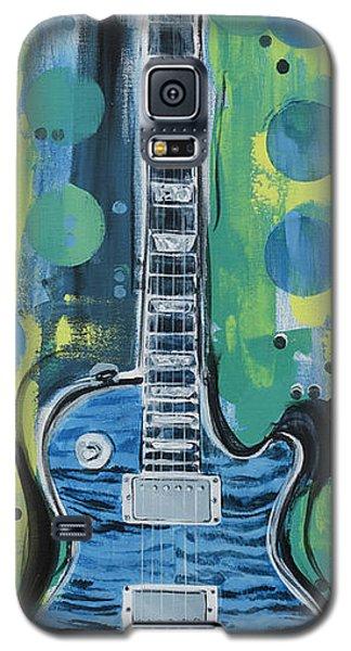 Blue Gibson Guitar Galaxy S5 Case
