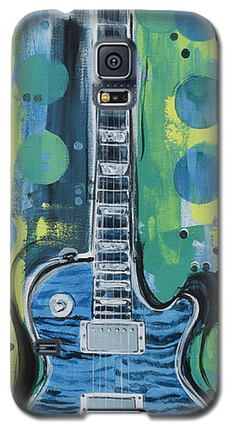 Blue Gibson Guitar Galaxy S5 Case