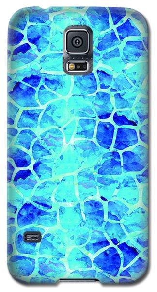 Blue Giraffe Print Galaxy S5 Case
