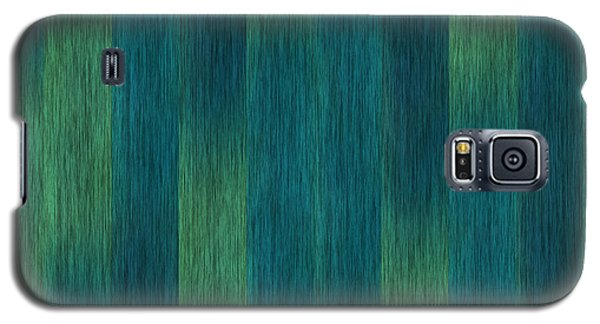 Blue Green Abstract 1 Galaxy S5 Case